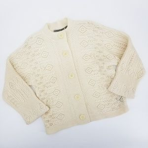 Liz Claiborne 100% Lambswool Button Up Sweater